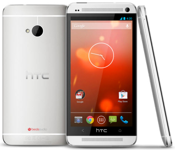 htc one with stock android