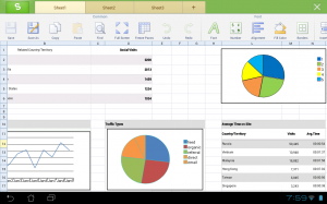 Kingsoft Office Android Spreadsheet