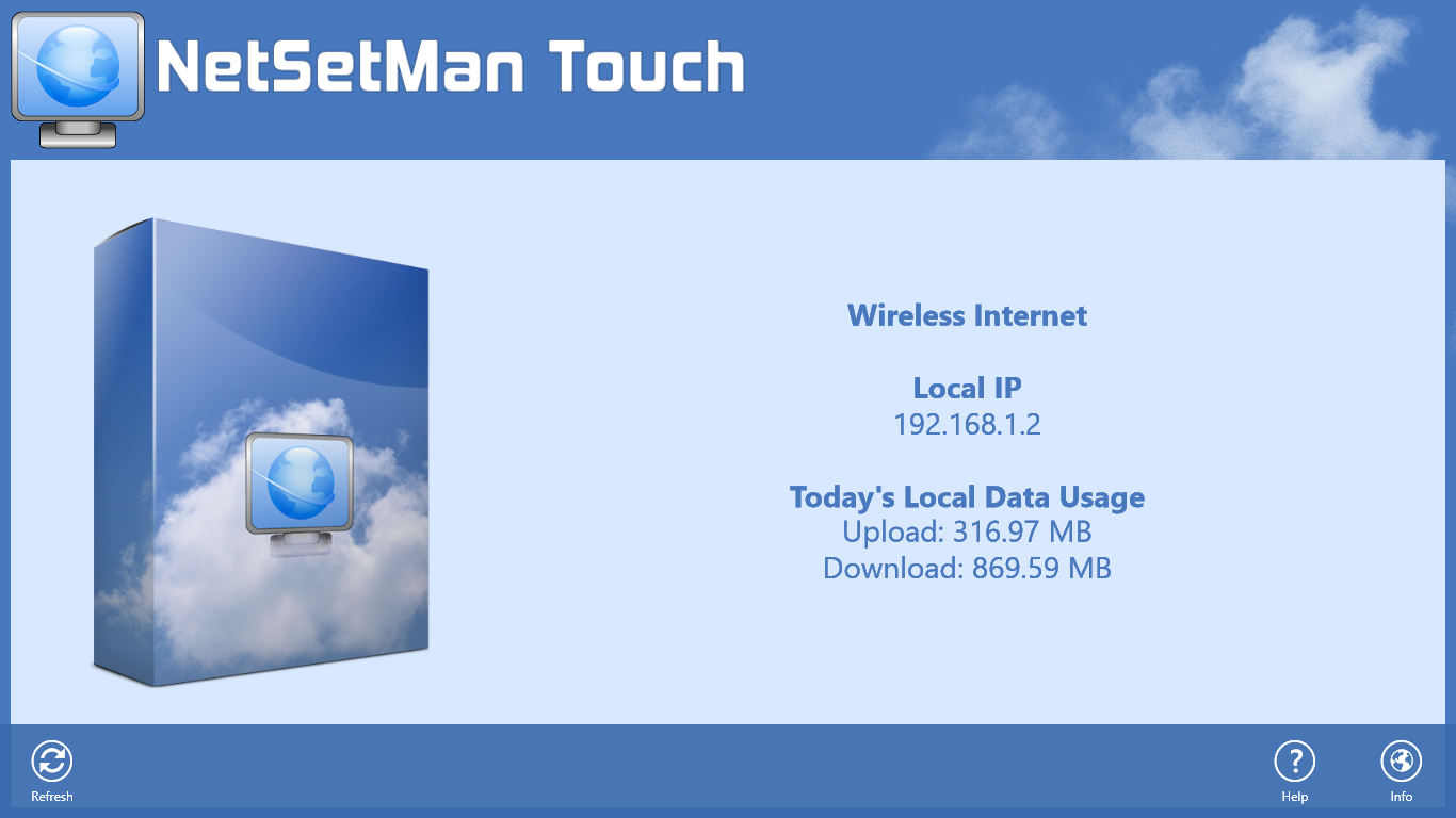 NetSetMan Windows 8 Metro UI