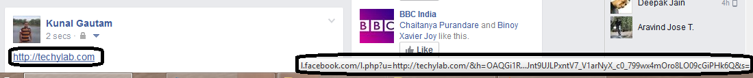 Facebook Modified URL