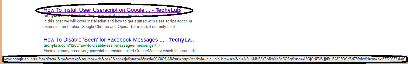 Google Modified URL
